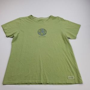 Life Is Good Women's T-shirt Size Medium Green One